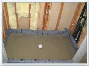 shower pan installation Houston